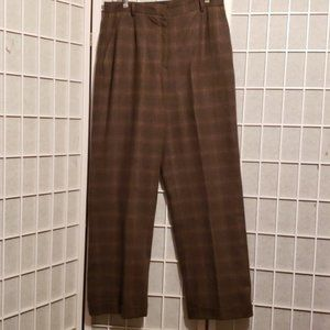 WILLI SMITH COLLECTION PLAID WOOL PANTS Sz 12